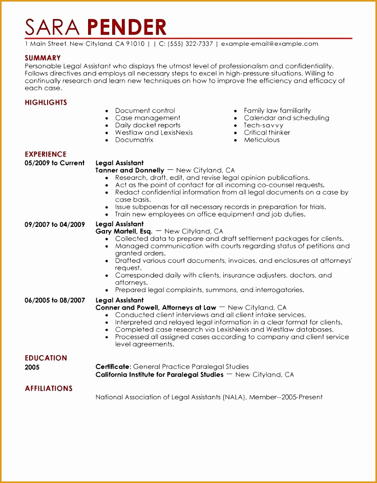 legal assistant resume samples941736