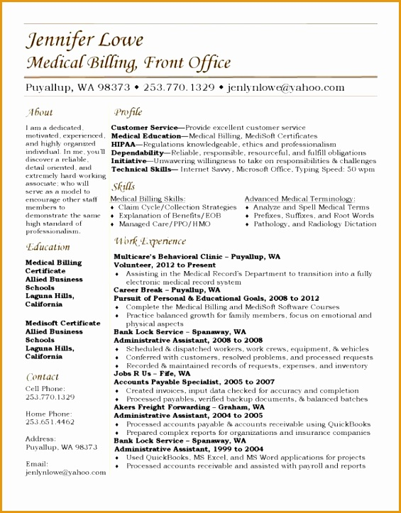 medical billing coding resume example723565