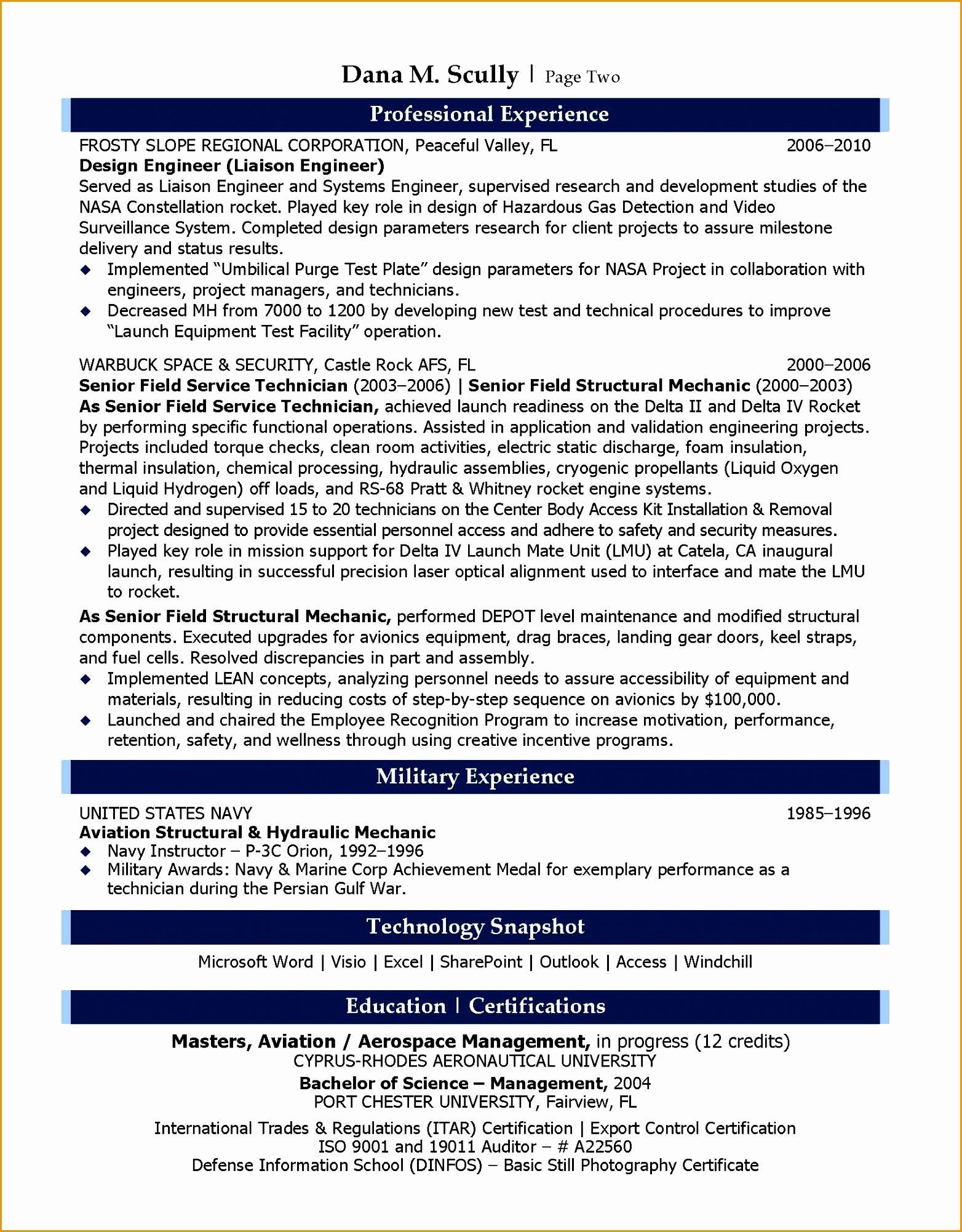 9 aeronautical engineer resume example