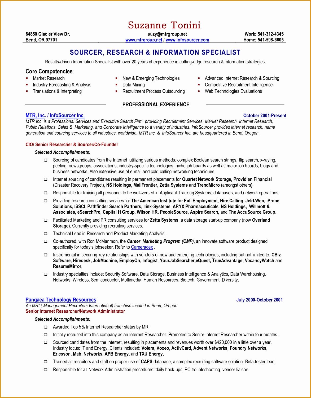 8 an effective chronological resume sample