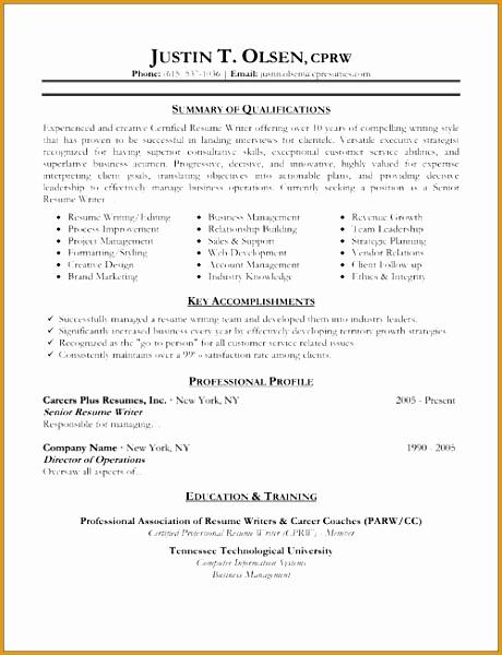resume samples600460