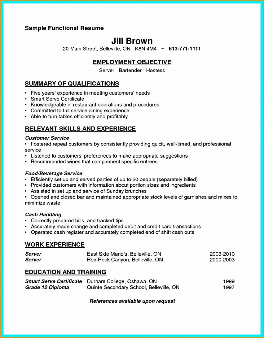 outstanding details you must put in your awesome bartending resume1092852