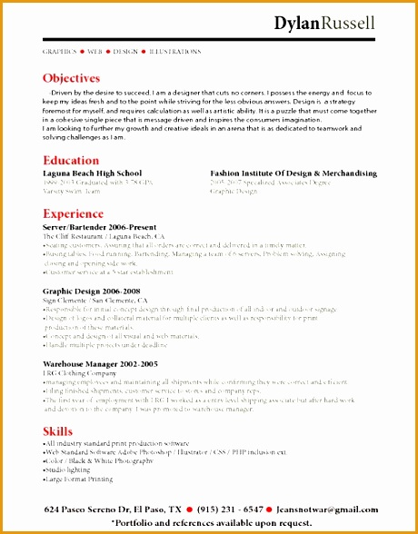 7 Bartender Resume No Experience Free Samples Examples