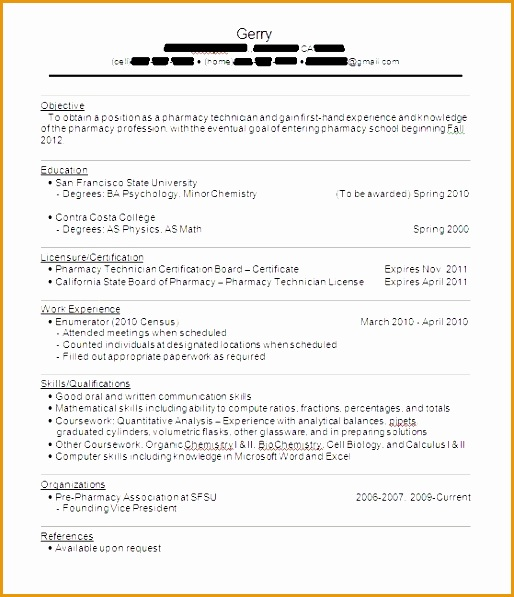 1739 with resume no bartender sample experience597514