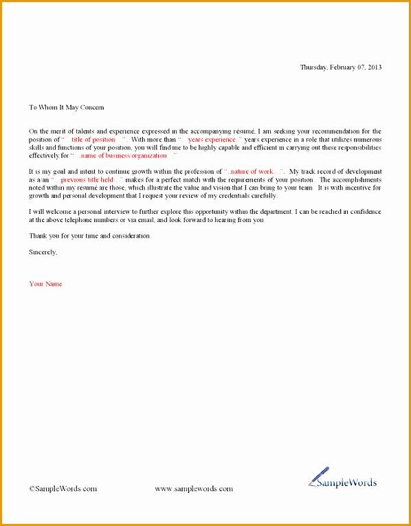 basic cover letter for resume765598