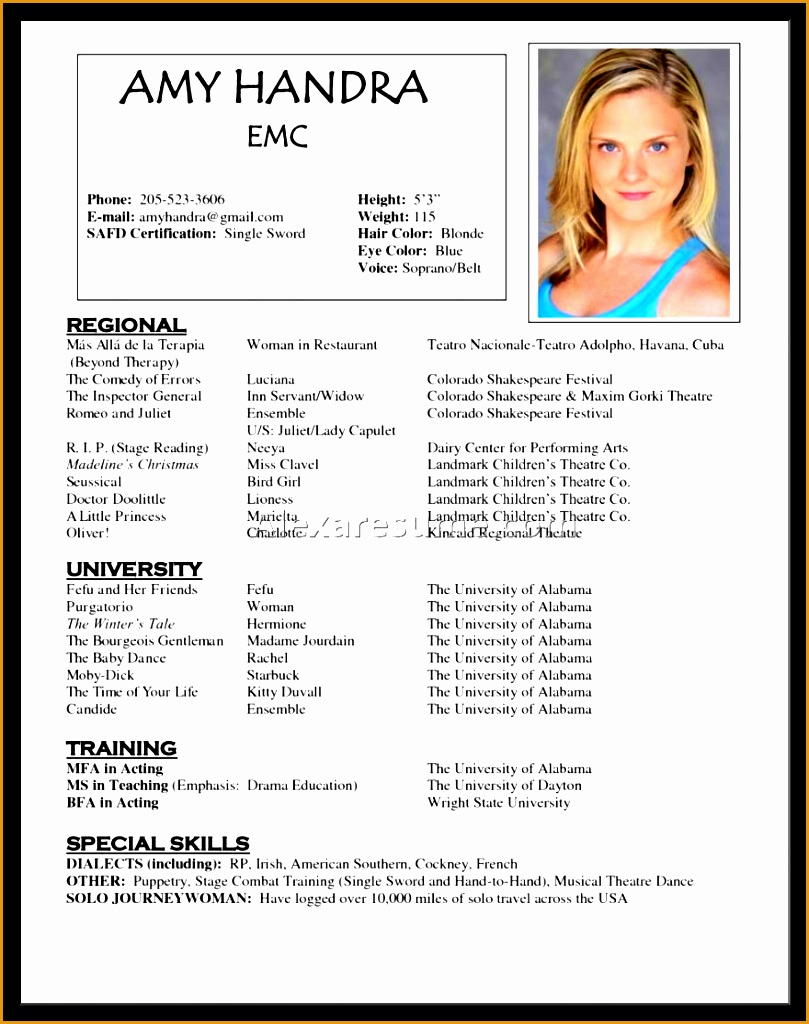 acting cv 101 beginner acting resume example template1024809
