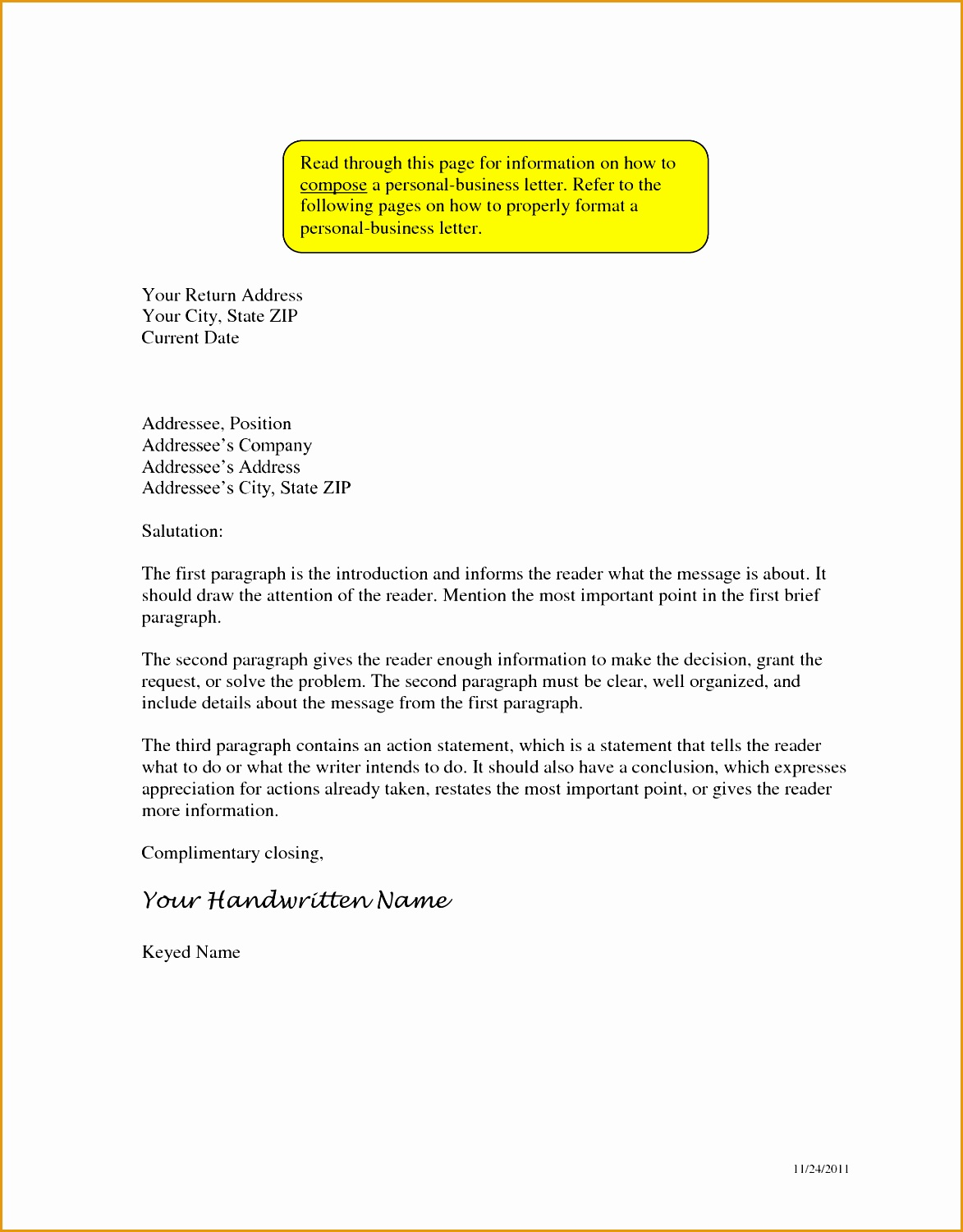 sample business letter format with thru15011173