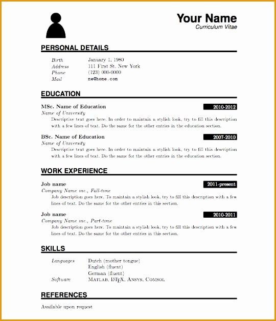 pdf resume template628540