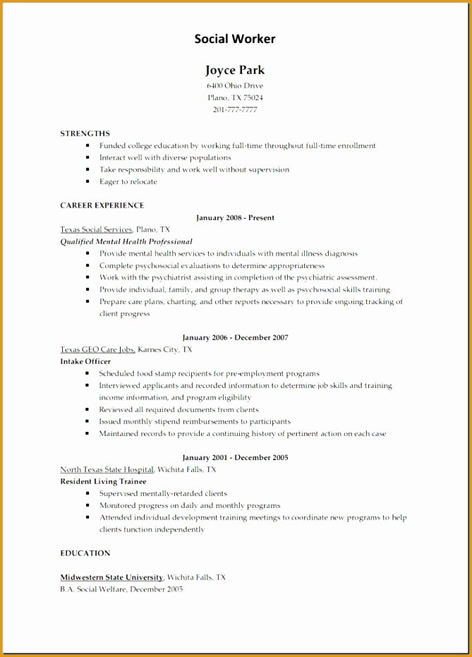 resume template for child care worker931669