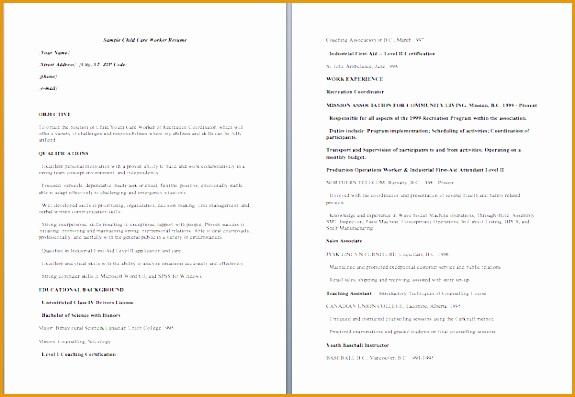 child care resume samples397575