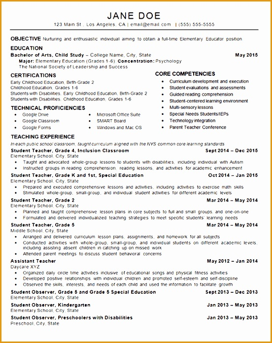 child care teacher resume example696552