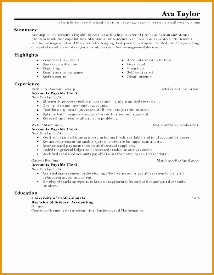 accounts payable specialist resumes - Accounts Payable Specialist Resume