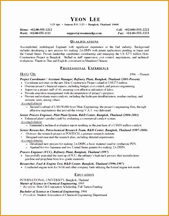 process engineer resume720563