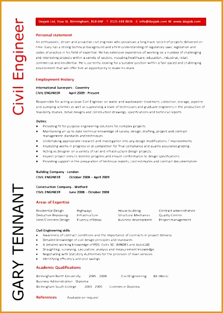 civil engineering cv template 285644460