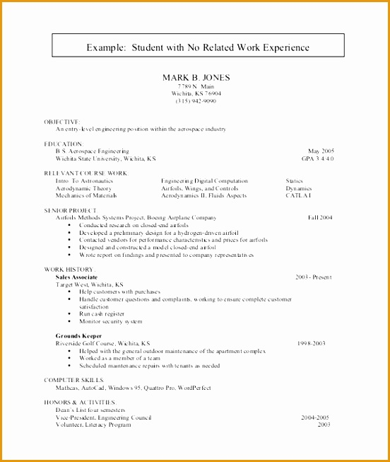 resume for college student653552