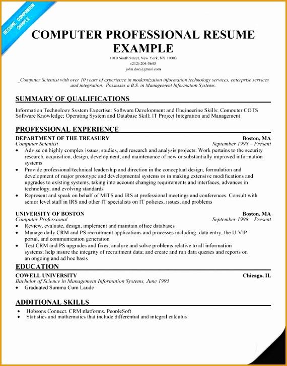 puter skills resume sample728570