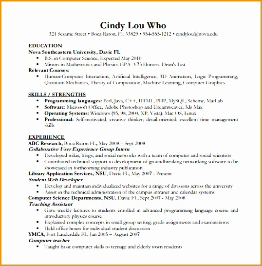 puter science resume546538