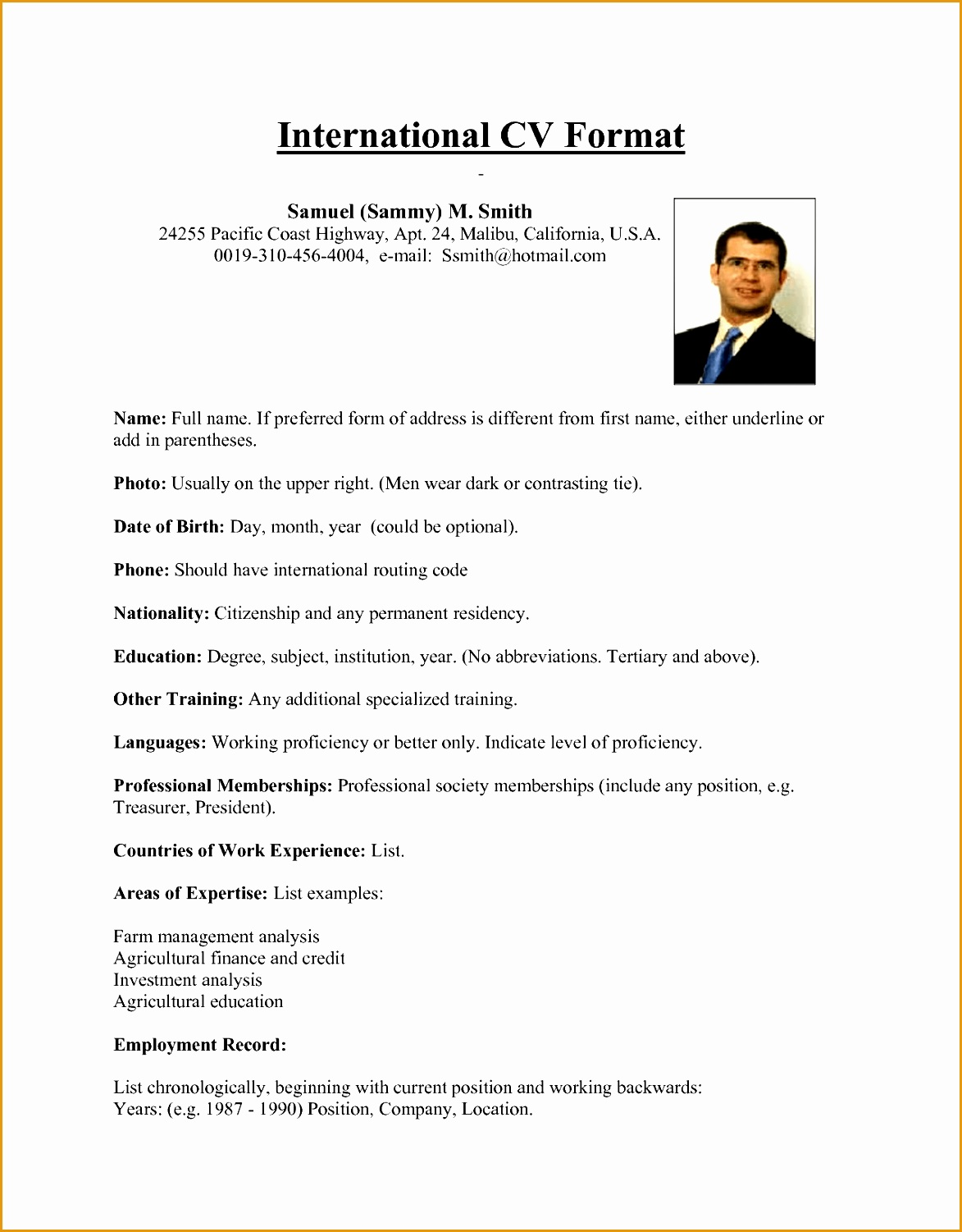 best resume format usa international cv from samuel15011173