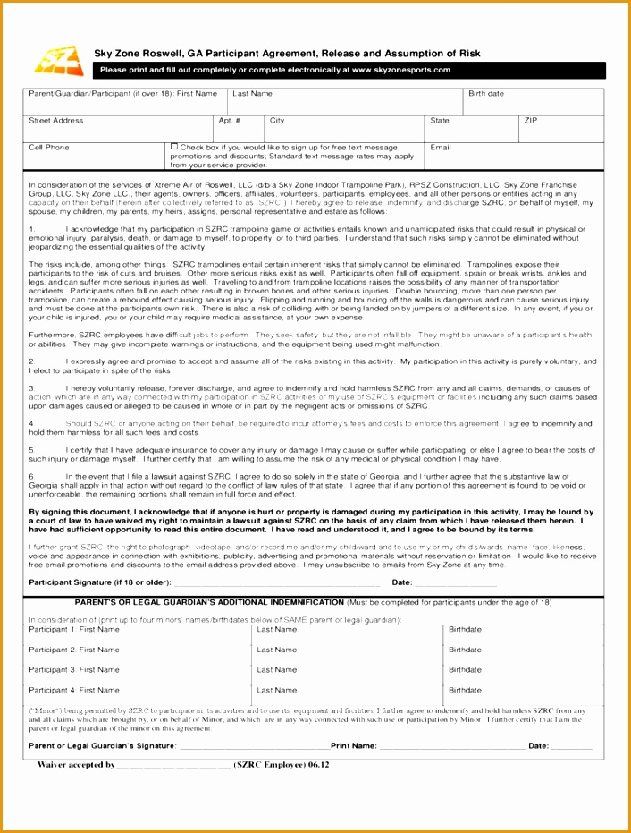 sky zone waiver form931706