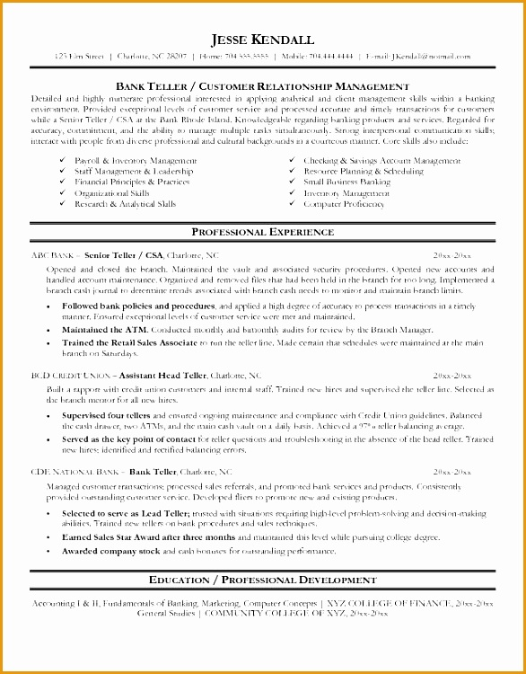bank teller resume sample 686750586