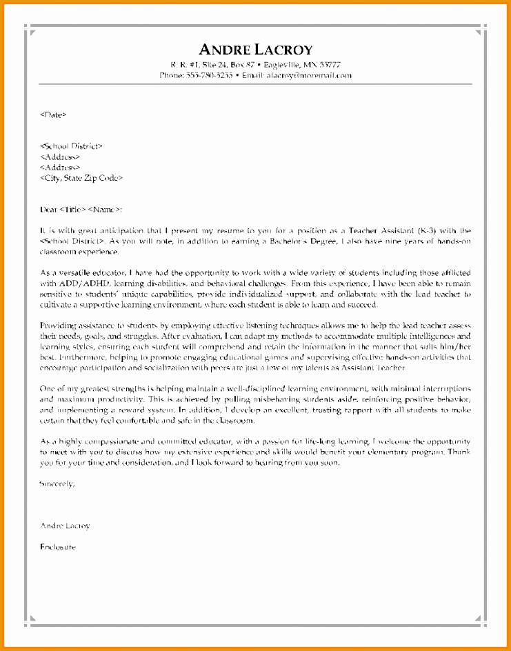 8322 cover teachers sample letter for944741