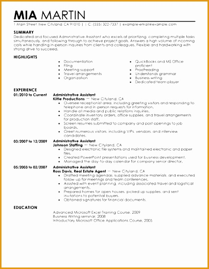 best sample administrative assistant resume examples 2016545425