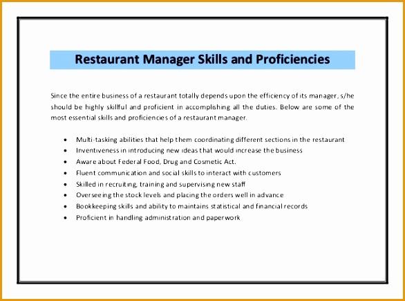 restaurant manager resume sample pdf435586