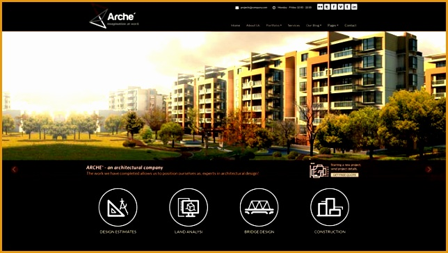 20 clean portfolio website templates architects364644