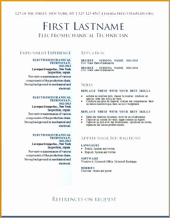 7 download resume templates for mac