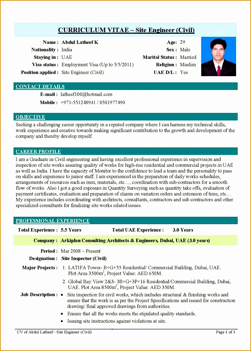 professional engineering cv format14561040
