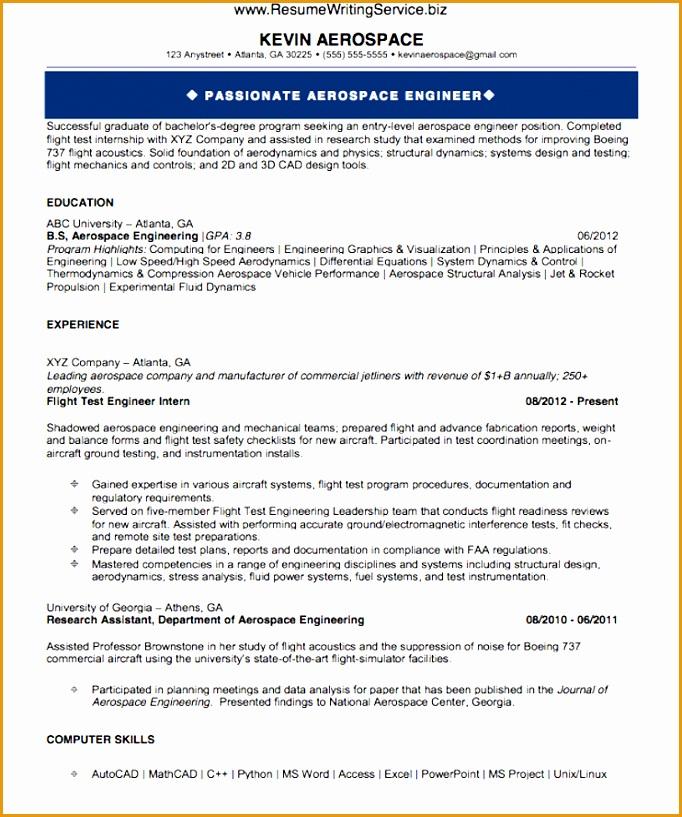 Aerospace Production Engineer Resume