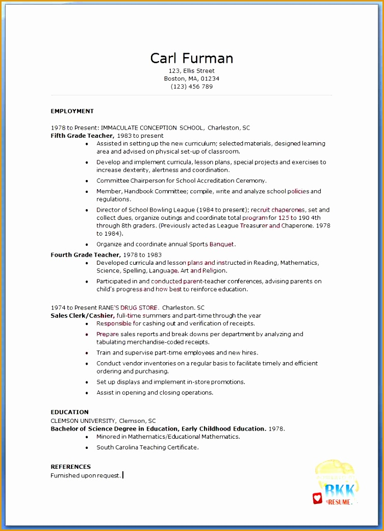 teacher resumes with quotes1041753