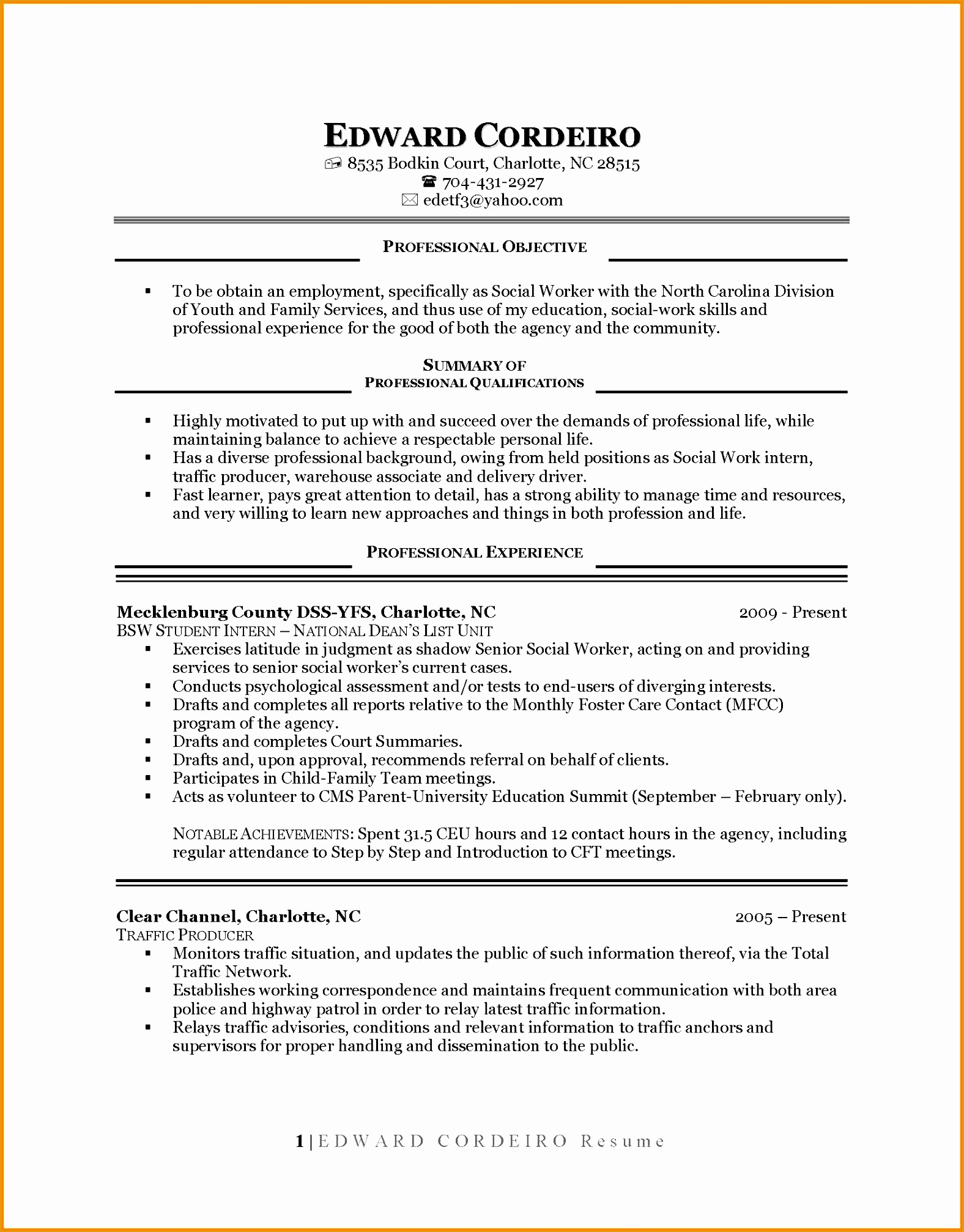 seamstress resume