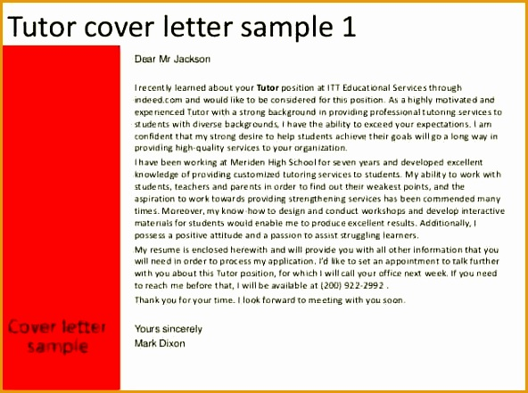 Teacher Cover Letter Template By Indeed on