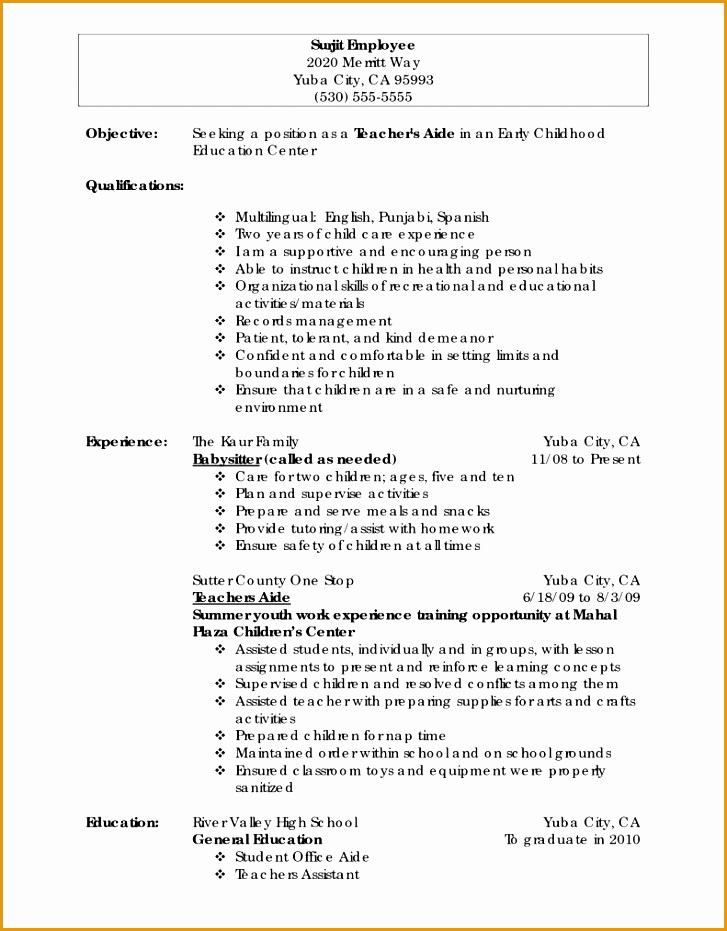 6 elementary teacher resume example
