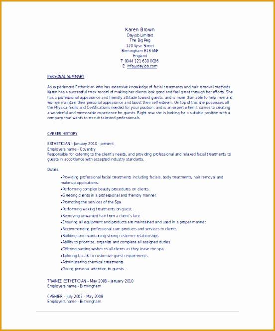 9 esthetician resume template