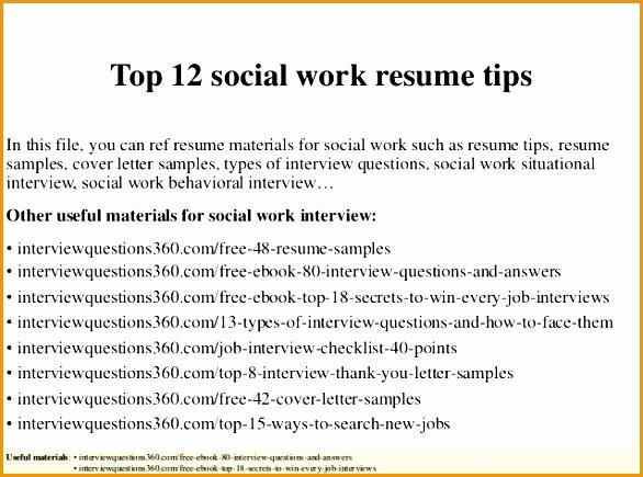 top 12 social work resume tips435586