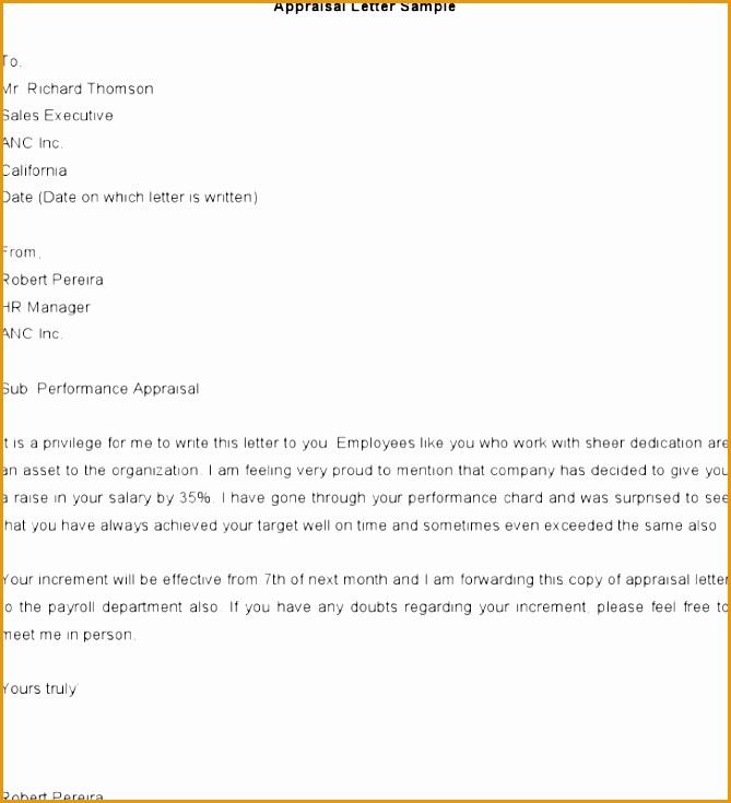 sample appraisal letters735669
