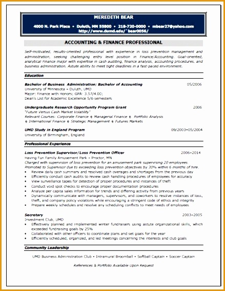 accounting position resume sample566439