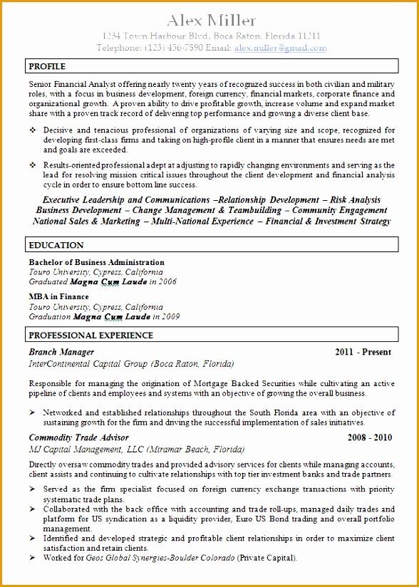 8 executive recruiter resume template