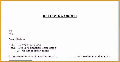 relieving order letter format255492