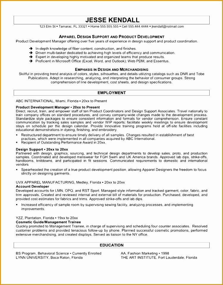 fashion resume sample960750