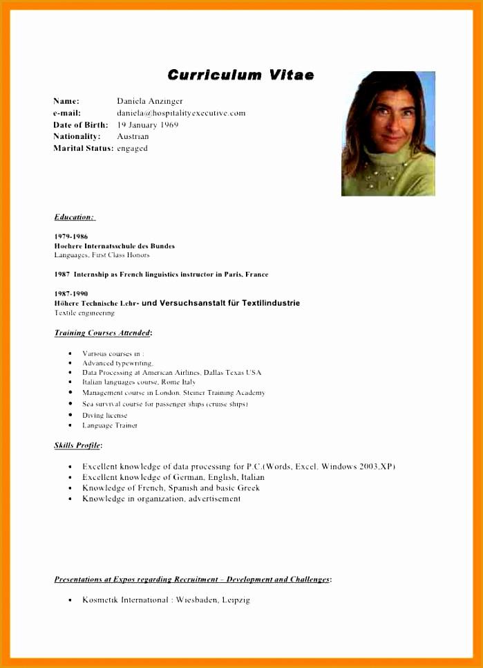 5 cv form in english word966699