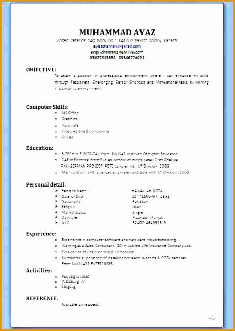 15 cv format job application646460