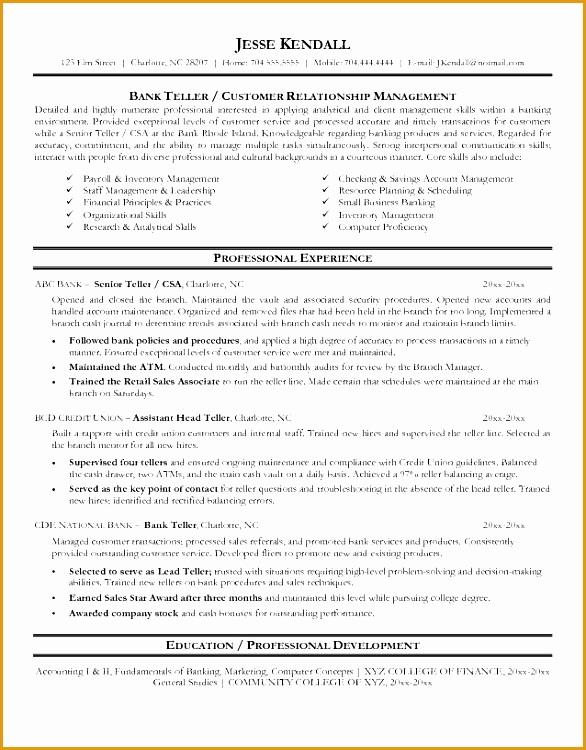 bank teller resume sample 686750586
