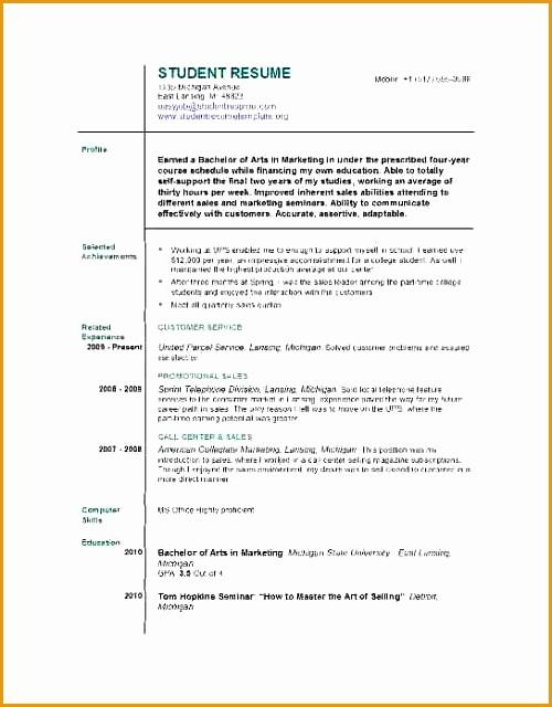 14 cv template student first job640500