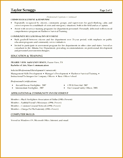 Skills Example For Job Resume
