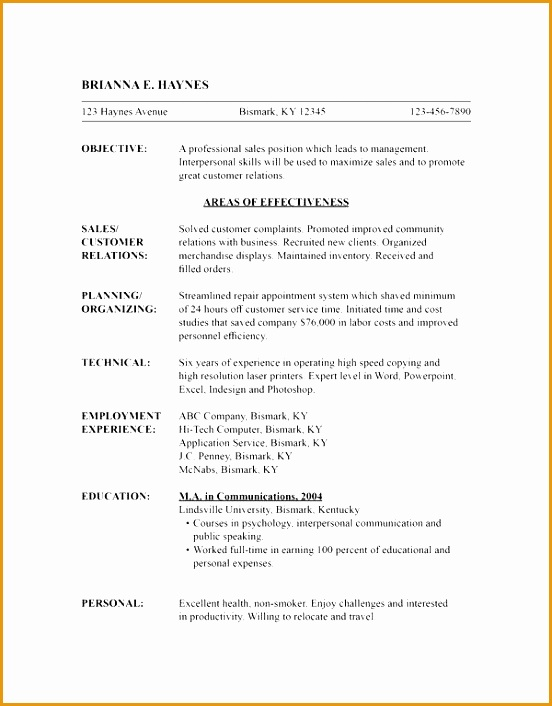 7 free chronological resume template