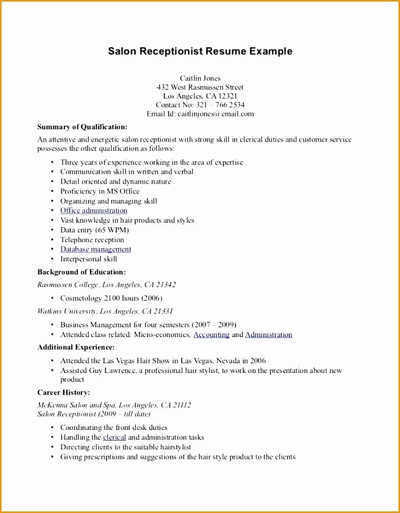 medical receptionist resume sample1000781