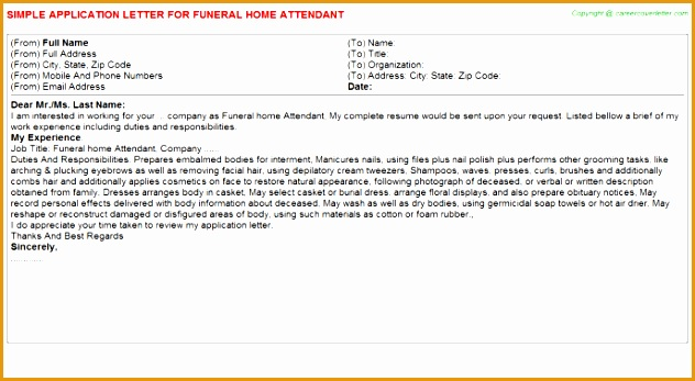Funeral Home Attendant JOB347632